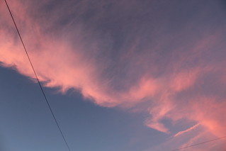 Pink-ish clouds