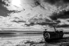 Port Lairge B&W (Andi Hardman) Tags: beach art rust grafitti sun boat sea ireland clouds abandoned port steam eire ship waterford dublin wexford deep wreck diver beached saltmills dredger cowexford powered lairge coastline ocean sand seascape seashore horizonoverwater coastalfeature