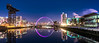 Clydeside Glasgow.. (Catherine Cochrane) Tags: everythingscenery sky bluehour skyline city cityscape outdoors water outside buildngs river riverclyde nightshot bridge night lights