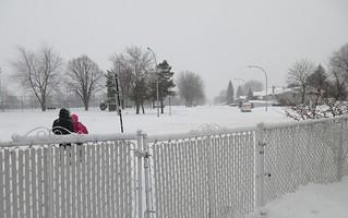 ** Notre première tempête de neige **