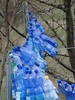 bottle ballet (nightcloud1) Tags: waterbottle recycling fence ballet percussion veggiegarden blu decoration movement sound