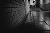 Ready or not here I come (tomorca) Tags: tunnel underground passage brick man silhouette bokeh shadow dark water blackandwhite fujifilm xt2