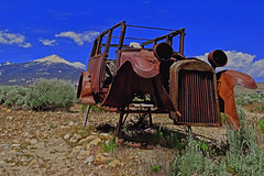2017...in a Nutshell (oybay©) Tags: greatbasinnationalpark nationalpark park lehmancaves ranchersexhibit 1928ford ford car automobile desert middleofnowhere mountain snow color colors unique abandoned rusty old vintage bluff nevada texture layer photoshop skeletalmess explore vehicle outdoor america americana antique classic cars photography corroding cow decaying deserted driving junk junked motor mountains north model rural rust rusted rusting skeleton transportation united states usa rustyandcrusty crusty