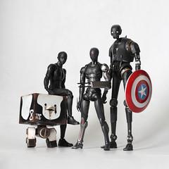 Team Black (TKatagiri) Tags: k2so black 1000toys carb 3atoys 3ago squaremk2 mrkun marvel legned sheild