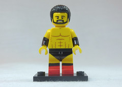Brick Yourself Custom Lego Figure Wrestler with Red Boots