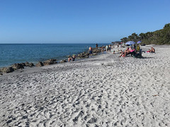 "caspersen beach (""One who sits by the fire"") Tags: caspersenbeach gulfcoast gulfofmexico beach sandybeach rockybeach bluesky florida"