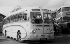 Jolly 's ( Coaches ) / Mulleys Motorways . Ixworth , Suffolk . CEY80 . Angel Hill , Bury St. Edmunds , Suffolk . (AndrewHA's) Tags: bus coach suffolk mulleys motorways jolly's coaches aec reliance burlingham seagull cey80 second hand milburn gaerwen