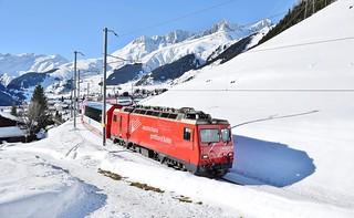 Glacier Express_MGB HGe4/4 loco no.3_Bugnei, Switzerland_241217_02