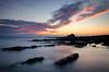 Wembury Dusk (Frosty__Seafire) Tags: sunset wembury beach seascape mewstone d7000 landscape sea rocks sigma 1020 red purple devon