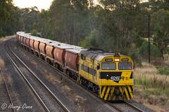 Evening Alco (Henry's Railway Gallery) Tags: 44204 442class alco americanlocomotivecompany diesel ssr southernshorthaulrailroad 2mc3 mc3 graintrain freighttrain glenrowan