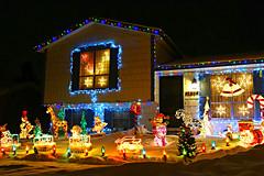Christmas Decorations (Sandra Leidholdt) Tags: colorado christmas merrychristmas sandraleidholdt yard decorations usa house christmaslights building winter