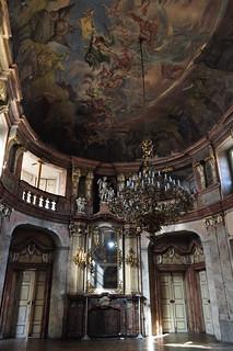 Salle de bal, Palais Colloredo-Mansfeld (XVIIIe), Karlova, Stare Mesto, Prague, République tchèque.