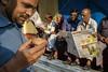 Onlooker (SaumalyaGhosh.com) Tags: people color light morning tea kolkata india streetphotography street claypot watch