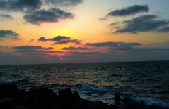 flickr 9 (Point of view 2) Tags: sea sky sunset ocean water rocks flickr wow freedom happy beautiful orange blue outside zon outdoor nature color 2017 december landscape abdelrhmanetraaf