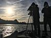boat ride on the Vltava river to meet the sun (kadofr) Tags: river vltava moldau prague czech