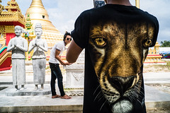 #22 (Sakulchai Sikitikul) Tags: street streetphotography snap songkhla sony a7s voigtlander 28mm thailand hatyai hand statues burmese tshirt temple