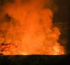 Overlook Crater  Eruption on The Evening of December 22. 2017 (wyojones) Tags: hawaii hawaiivolcanoesnationalpark volcanicgases lavalake overlookcrater halema'uma'ucrater kīlaueassummit kīlauea kīlaueacaldera eruption volcanicactivity nighteruption lavafountains glow rim geology