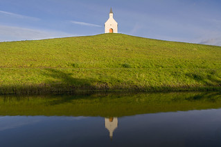 Reflection of a little church