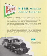 1953 Bagnall Diesel Mechanical Locomotives Brochure (Daveynorth) Tags: bagnall diesel mechanical locomotives stafford castle engine works 040 060 industrial leaflet brochure 1953