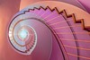 stairs Art (SonjaS.) Tags: treppen wendeltreppe münchen pink art farben colors staircase