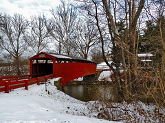 Bells Mill Covered Bridge (George Neat) Tags: bells mill covered bridge sewickley township east huntingdon madison snow winter westmoreland county pa pennsylvania landscapes scenic structures george neat coveredbridge