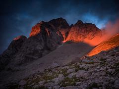 Jalovec - Julian Alps (Leonardo Đogaš) Tags: rock landscape sky mountain slovenija slovenia svitanje zora planina jalovec sunrise leonardođogaš julianalps julijskealpe