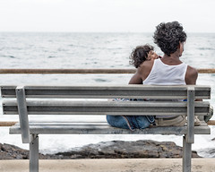 South Africa - Into the Future (tatzlum.photo) Tags: poverty portrait poor child separation beachroad father lonely capetown blankspace bench southafrica sea
