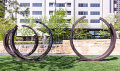 2 Arcs x 4, 230.5 Degree Arc x 5 (russellstreet) Tags: sculpture stlouis unitedstatesofamerica missouri usa
