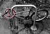 Lock it or lose it (Dom Walton) Tags: bike lock vandalised broken selectivecolour fratton domwalton