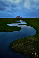 Les méandres de la Merveille (www.didierbonnettephotography.com) Tags: normandie normandy montsaintmichel bluehour heurebleue seascape paysagemarin méandres
