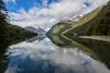 Lake Gunn, New Zealand (Vins 64) Tags: lake gunn nz newzealand reflet reflect reflejos reflection reflections mirror snow mountain blue bluesky lac landscape teanau