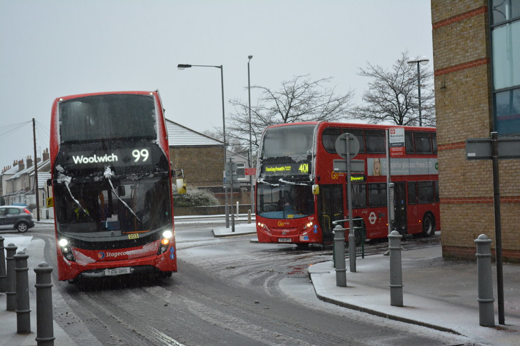 Bexleyheath Clock Tower Buses 2 Gellico Tags Snow Stagecoach