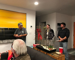 035 The Anticipation Of The Crowd (saschmitz_earthlink_net) Tags: 2017 california southerncaliforniagrotto christmasparty losangelescounty baldwinhills windsorhills party climbing practice
