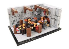 """A toast, to the king's good health!"" (Gareth Gidman) Tags: lego ccc wine castle build hall keep fireplace table dinner feast servant poison"