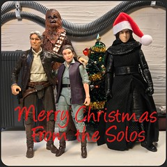 Merry Christmas and Happy Holidays!! (chevy2who) Tags: chewbacca solo han general leia ren kylo inch six figure action toyphotography toy series black wars star