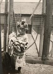 Page 29, no. 3: Hildur with her doll (InstaDerek) Tags: 1910s sangabriel california richardson girl farm chickencoop hairbow doll toddler