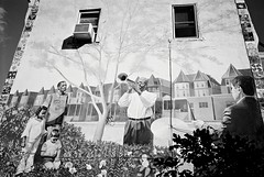 R1-024-10A (David Swift Photography) Tags: davidswiftphotography philadelphia westphiladelphia murals muralartsprogram publicart jazz 35mm film ilfordxp2 olympusstylusepic