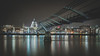 The Cathedral Link (shammondphoto) Tags: london cityscape stpaulscathedral monument landmark bridge thames river citylights reflection longexposure water leadinglines oldandnew milleniumbridge rivercrossing 169 winter december outdoor city nightphotography contrast thecathedrallink