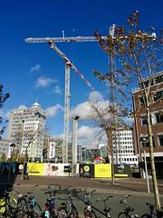 Cranes (Michiel2005) Tags: lorentz bouwproject stationsweg stationsplein leiden nederland netherlands holland