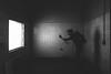 the.examiner (jonathancastellino) Tags: abandoned derelict decay ruin ruins hospital psych asylum figure light square window tile portrait leica q