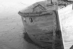 (Julie Rutherford1) Tags: orford ness black white nautical ropes mud wreck suffolk julie rutherford