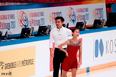 Cheng Peng, Yang Jin (asveri) Tags: figureskating isufigureskating ifp2017 grandprix grandprixfrance practice internationauxdefrance chengpeng pengjin yangjin