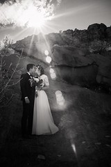Desert wedding (aamith) Tags: groom couple sigma flare desert blackandwhite bride 35mm wedding