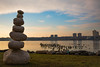 Cairns Along the Hudson (The Flying Inn) Tags: cairns hudsonriver manhattan newjersey water art docks newyork scupture stone stones tiles unitedstates us cityscape