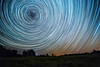 1/8 Revolution (Matt Molloy) Tags: mattmolloy timelapse photography timestack photostack movement motion night sky stars trails lines circles spin northstar polaris barn farm field trees violet ontario canada landscape nature countryside lovelife