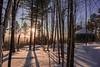 Bayfield County Yurt (Jeremy Oswald) Tags: bayfield county yurt clamping camping winter sundown