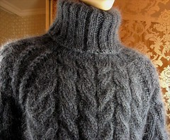 Heavy mohair wool turtleneck (Mytwist) Tags: tigrisina mohair hand knitted graphite gray cable knit tneck sweater jumper turtleneck rollneck rollkragen wool warm woolfetish winter wolle retro ribbed fashion fetish fisherman grobstrick handgestrickt handcraft handknit bulky cabled cozy vouge velour design designed fair sexy passion pulli love laine knitting heavy handknitted exclusive timeless textured norway aranstyle expensive
