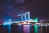 Lighting up your life. (starlightz82) Tags: singapore asia mbs marinabay marinabaysands landscape nightscape cityscape architecture lights colourful urban singaporeriver lake travel tourism