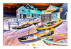 Boats at Sheringham in Norfolk - a marmite edit :) (Gary Pearson Photography) Tags: inverted negative marmite colourful vibrant sheringham norfolk