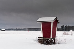 Milk Shelter On The Snowy Fields (k009034) Tags: 500px sky landscape frozen red winter nature clouds old architecture building scene white snow fields countryside weather agriculture frost snowing barn rural wooden farming covered no people cold temperature finland tranquil scandinavia copy space milk shelter teamcanon